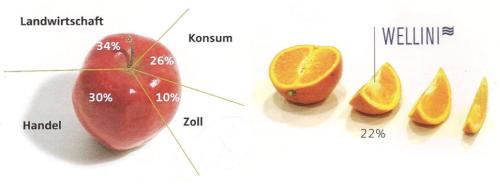 Varianten Apfel und Orangen-Schnitz