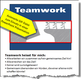 PowerPoint: Folie Teamwork und Notizen