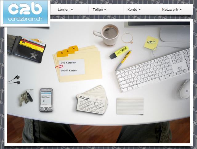Card2Brain-Schreibtisch