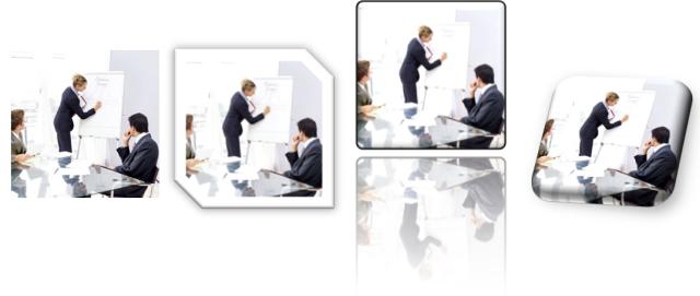 Originalbild und 3 Varianten aus Office 2010