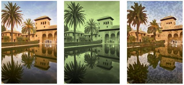 Originalbild und Veränderungen Farbe / künstlerischer Effekt